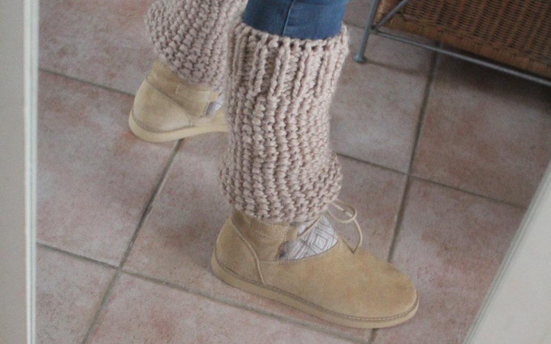 Des guêtres chameau tricotées pour l'hiver… voici le tuto